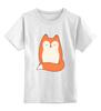 """Детская футболка классическая унисекс """"Лисичка (Fox)"""" - fox, лиса, лисичка"""