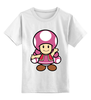 """Детская футболка классическая унисекс """"Toadette (Mario)"""" - супербратья марио"""