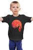 """Детская футболка классическая унисекс """"Красная Луна"""" - zombie, зомби, кровь, blood, луна, вторжение, red moon"""