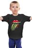 "Детская футболка классическая унисекс ""Zombie Kiss "" - зомби, пародия, the rolling stones"