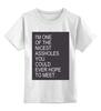"""Детская футболка классическая унисекс """"I'm an assholes"""" - майка, постер, asshole"""