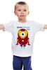 """Детская футболка классическая унисекс """"Minion IRON MAN  (Миньон - Железный человек)"""" - прикольно, арт, авторские майки, футболка, стиль, рисунок, в подарок, marvel, детская футболка, iron man"""
