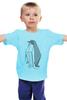 """Детская футболка классическая унисекс """"Пингвин Оригами"""" - пингвин, оригами, origami, penguin"""