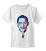 """Детская футболка классическая унисекс """"Барак Обама"""" - арт, usa, сша, президент, president, barack obama"""