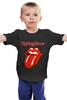 """Детская футболка классическая унисекс """"rolling stone """" - рок, rolling stone, ролинг стоун"""