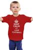 "Детская футболка ""Keep Calm"" - футбол, фразы, keep calm, британия, kinoart"