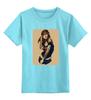 """Детская футболка классическая унисекс """"Девушка с плеером"""" - плеер, пинап, pin-up, player, walkman"""
