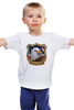 "Детская футболка классическая унисекс ""American Eagle"" - орёл, eagle, america, американский флаг, american flag"