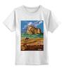 """Детская футболка классическая унисекс """"ретро монтана"""" - ретро, горы, иллюстрация, сша, монтана"""