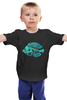"""Детская футболка классическая унисекс """"Скелетон"""" - skeleton, скелет, рыба, fish, neon, скелетон"""
