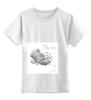 """Детская футболка классическая унисекс """"Мишка Тедди"""" - ребенок, ждем ребенка, мишка тедди, рождение девочки"""
