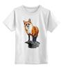 """Детская футболка классическая унисекс """"Лисица"""" - животные, red, рисунок, fox, лиса, рыжая"""