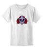 """Детская футболка классическая унисекс """"Мексиканский череп"""" - череп, цветы, крест, тату, мексика"""
