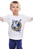 """Детская футболка классическая унисекс """"Космонавт"""" - space, unicorn, единорог, космонавт"""
