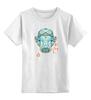 """Детская футболка классическая унисекс """"Медведь сноубордист"""" - спорт, bear, медведь, графика, сноуборд"""