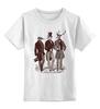 """Детская футболка классическая унисекс """"Джентльмены"""" - арт, животные, дизайн, джентльмены"""
