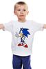 """Детская футболка классическая унисекс """"Sonic the Hedgehog"""" - games, игры, ёжик, компьютерные игры, pc, соник, sonic, 80's, video games"""