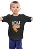 """Детская футболка классическая унисекс """"Мышь и пицца. Парные футболки."""" - парные, ко дню влюбленных, мышь и пицца, всегда вместе, надписи для двоих"""