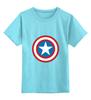 """Детская футболка классическая унисекс """"Marvel"""" - комиксы, супергерой, marvel, марвел, капитан америка, captain america"""