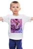 """Детская футболка классическая унисекс """"Цветок маслом"""" - цветы, масло, живопись"""