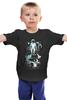 """Детская футболка классическая унисекс """"Космос, рыбы"""" - арт, space, рыбы, космонавт"""