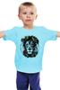 """Детская футболка """"Лев и роза"""" - лев, lion, царь зверей"""