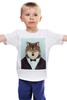 """Детская футболка """"Деловой волк"""" - бабочка, смокинг, волк, wolf, деловой"""