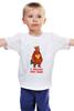 """Детская футболка классическая унисекс """"В ожидании новых санкциий..."""" - обама, путин, сша, украина, крым, санкции, ес, майдан"""