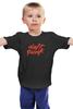 """Детская футболка классическая унисекс """"Daft Punk logo"""" - logo, электроника, daft punk, дафт панк, kinoart"""