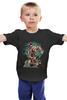 """Детская футболка классическая унисекс """"Бешеный Медведь (Crazy Bear)"""" - skull, череп, bear, медведь, бешеный медведь"""