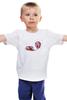 """Детская футболка классическая унисекс """"Веселые пончики"""" - веселые пончики, funny donuts"""