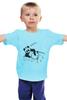"""Детская футболка классическая унисекс """"панда"""" - юмор, панда"""