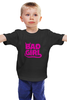 """Детская футболка классическая унисекс """"Bad girl (Плохая девченка)"""" - bad, girl, bad girl, плохая девочка"""