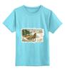 """Детская футболка классическая унисекс """"салазки"""" - новый год, new year"""