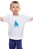 """Детская футболка классическая унисекс """"Nirvana-blue"""" - nirvana, монах, буддизм, yoga, lingam"""