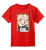 """Детская футболка классическая унисекс """"Символ нового 2015 года – Кудрявая Овечка"""" - happy new year, новый год, winter, зима, дом, семья, снег, 2014, барашек, баран"""