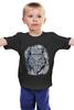 """Детская футболка """"Doodle Owl"""" - арт, птица, графика, синий, сова, филин, blue, owl, перья, doodles"""