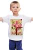 """Детская футболка классическая унисекс """"Любовь и цветы!"""" - любовь, арт, женская, девушке, букет"""