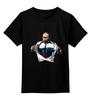 "Детская футболка классическая унисекс ""Путин - Супермен"" - супермен, superman, россия, политика, путин, президент, putin, путин арт, патриотические футболки, футболки с путиным"