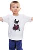 "Детская футболка ""Собака Хипстер"" - животные, собака, хипстер"