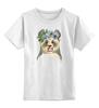 """Детская футболка классическая унисекс """"Панда в венке"""" - panda, акварель, панда, природа, цветы"""