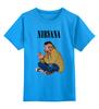 """Детская футболка классическая унисекс """"Nirvana Kurt Cobain """" - гранж, nirvana, kurt cobain, курт кобейн, нирвана"""