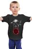 """Детская футболка классическая унисекс """"Лорд Сноу"""" - ворон, игра престолов, лютоволк, lord snow, лорд сноу"""