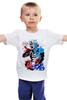"""Детская футболка классическая унисекс """"America """" - америка, комиксы, marvel, мстители, капитан америка"""
