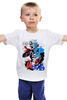 "Детская футболка ""America "" - америка, комиксы, marvel, мстители, капитан америка"
