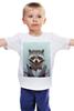 """Детская футболка """"Деловой енот"""" - модно, стиль, енот, деловой, racoon"""
