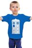 """Детская футболка классическая унисекс """"Tardis (Тардис)"""" - сериал, doctor who, tardis, доктор кто, машина времени, телефонная будка, time machine, phone box"""