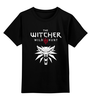 """Детская футболка классическая унисекс """"Ведьмак 3: Дикая Охота"""" - волк, ведьмак, witcher, wild hunt, дикая охота"""