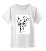 """Детская футболка классическая унисекс """"dear deer"""" - графика, олень, deer, tseart"""