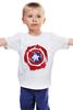 """Детская футболка классическая унисекс """"Captain America """" - капитан америка, captain america"""